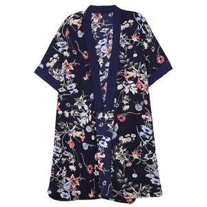 Do Everything in Love Flower Pattern Print Kimono